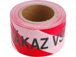 Páska výstražná 80m/250m s potiskem ZÁKAZ VSTUPU