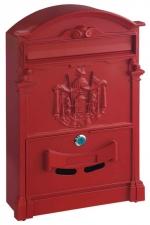 Schránka poštovní ASHFORD červená