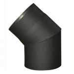 Koleno kouřové 130mm/45st.t.1.5mm ČER (654089)