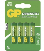 Baterie GP Greencell R6 AA - baelní 4ks